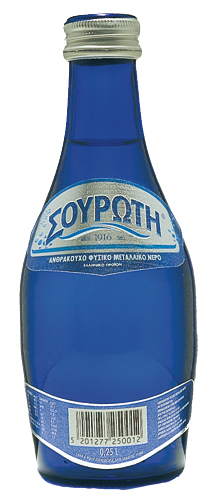 Souroti sparkling water 250ml (glass)