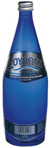 Souroti sparkling water 0.75lt (glass)